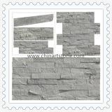 Плакирование каменной стены культуры шифера природы голубое деревянное