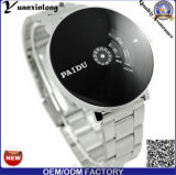 Relógios de prata luxuosos quentes de Paidu da face do círculo do projeto da forma da fita de aço das mulheres/homens da venda Yxl-732