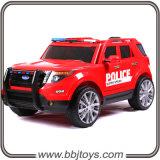 Conduite électrique sur le véhicule de police