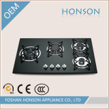 Cucina Appliance Built in Tempered Glass Gas Hob