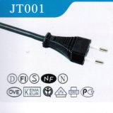 Plugue padrão do cabo de potência de Europa (JT001)