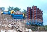Completare lo scivolo a spirale della strumentazione di lavorazione del minerale dello stagno