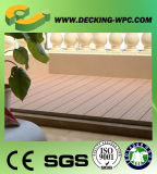 Decking de madera de Anti-Combeo del plástico Composite/WPC de la alta calidad, Decking barato/China
