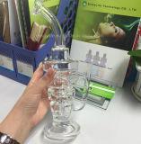 Tubulação de vidro de vidro grossa e resistente do Hitman novo da cor misturada da venda por atacado da fábrica da plataforma petrolífera de água com junção masculina