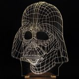 Luce 3D visivo scolpita Star Wars bianca LED Night Light Table Desk Illusion lampada