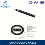 Curvar-Tipo cabo de Gjxfha FTTH da alta qualidade da fibra óptica da gota para o duto
