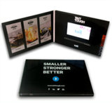 "Fabrik 4.3 "" Video Card/Brochure mit Glossy Finishing, Customized Design"