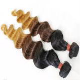 加工されていないQueenlikeバージンの毛の拡張ブラジルの人間の毛髪