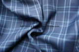 Blaues Check-Wolle-Gewebe mit Polyester