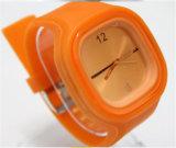 Orologio del quarzo del silicone della vigilanza della gelatina del quadrato di alta qualità Yxl-965