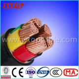 Кабель изоляции PVC низкого напряжения тока кабеля Nyy медный