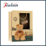 Impression de jouets Bear Brown Kraft Paper Hand Shopping Gift Bag