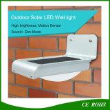 Bloco psto solar ao ar livre impermeável da parede IP65 do diodo emissor de luz da luz solar da parede do sensor do jardim PIR