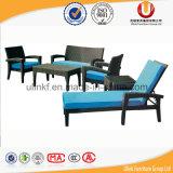 新しいデザイン家具の屋外のPEの藤の屋外のベッド(UL-T33)