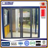 Porta deslizante dobro de vidro de alumínio/porta francesa