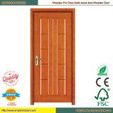 Porte de panneau en bois en bois de porte intérieure de PVC de porte intérieure