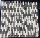 Mischfarben-natürliche Steinmarmormosaik-Fliese für Bauunternehmen-materielle Wand (FYSM071)