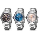 Los regalos impermeables del ojo de la tira de acero de los hombres modificaron el reloj para requisitos particulares ocasional