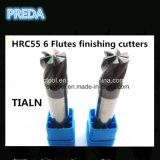 As flautas HRC55 6 quentes que terminam cortadores Tialn revestiram