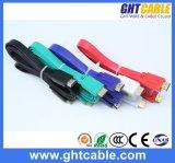 紫色の高品質平らなHDMIのケーブル(F016)
