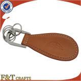 カスタマイズされた個人化された形PUの昇進の靴べらの革Keychain (FTKC1577A)