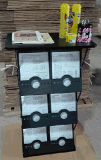 Contre- présentoir de salon d'exposition avec 6 poches de littérature