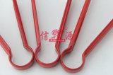 Pinzas rojas del alimento del gel de silicona del acero inoxidable (FT-4037)
