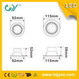 Alto brillo 6000k 7W LED Downlight con el CE TUV SAA