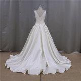 O plissado simples Gridal veste A - linha vestido de casamento da mancha