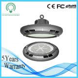 Lumière élevée ronde de compartiment d'UFO DEL de l'aperçu gratuit 130lm/W pour l'éclairage industriel d'entrepôt avec du ce, RoHS, TUV, SAA, certificat d'UL