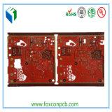 6layers赤いカラー表面PCBのボード