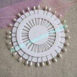perni a forma di della testa della perla del Teardrop bianco di 55mm per Hijab (P160111F)