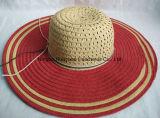 Sombrero de paja de la trenza de papel