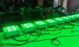12X18W Rgbawuv 편평한 동위 LED 디스코 점화를 흐리게 하기