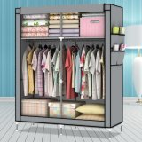 Bewegliches Double Zipper Door Non-Woven Fabric Wardrobe (WS16-0087, für Schlafzimmer Furniture)
