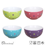 5.5 pollici Color con DOT Ceramic Rice Bowl