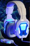 Cuffia avricolare di gioco con il LED che illumina per PC/PS4