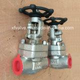 Válvula de porta forjada do NPT da extremidade de linha do aço inoxidável F316 F316L