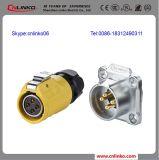 AC 직류 전원 접합기 4 Pin 원형 전원 연결 장치