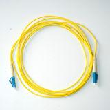 Cabo de correção de programa Single-Mode simples da fibra óptica do revestimento de PVC de LC-LC