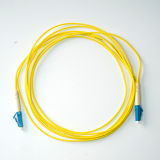 LC-LC PVC 재킷 단순한 싱글모드 광섬유 접속 코드