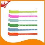 Faixas feitas sob encomenda do bracelete dos Wristbands do plástico de vinil do hospital (6060B1)