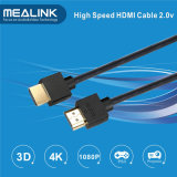 4k amincissent le câble de HDMI