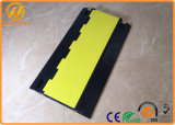 Pesado-deber Rubber Floor Cable Cover de 4 canales para Events Cable Management