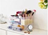 Étalage cosmétique acrylique givré Multi-Fnctional, renivellement Oragnizer avec 4 tiroirs
