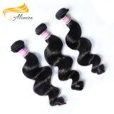 A mão cheia do cabelo humano amarrou o Weave brasileiro do cabelo 100 humano