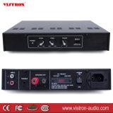 Amplificador audio de múltiples funciones de alto impacto de Bluetooth que cambia con negro de la fuente de alimentación