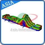 Strumentazione esterna gonfiabile di corsa ad ostacoli di uso adulto su sbarco