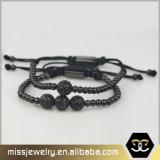 De Armband Msbb001 van de Parel van het Macramé van Anil Arjandas van het Roestvrij staal van de Douane van Mens