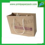Sacchetto su ordinazione del regalo della carta kraft del sacchetto del sacchetto di acquisto delle signore